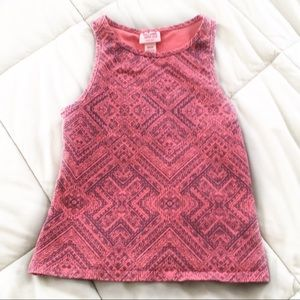 Mossimo Orange Print Crop Top in Size XS